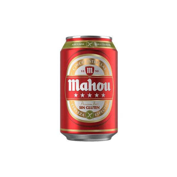 Imagen de MAHOU 5 ESTRELLAS ***LATA*** 33CL 5,5º (24 UDS)